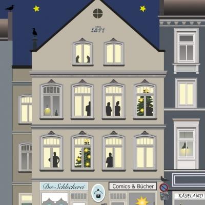 """Weihnachtskarte """"Die Schleckerei"""""""