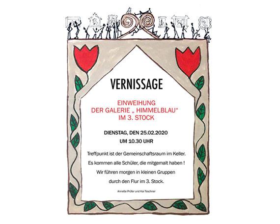 "Vernissage Wandbildprojekt ""Galerie Himmelblau"""